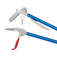 full view of collapsible gentle giant snake tongs by Midwest Tongs