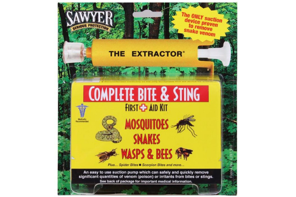 complete bite and sting first aid kit for mosquitoes, snakes, wasps and bees