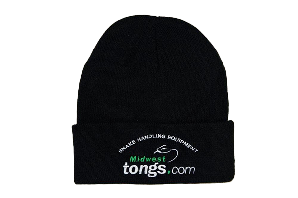 black beanie hat with Midwest Tong's logo