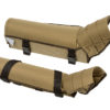 snake bite leg guards in khaki color